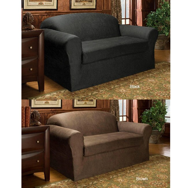 vintage faux leather 2 piece loveseat slipcover free