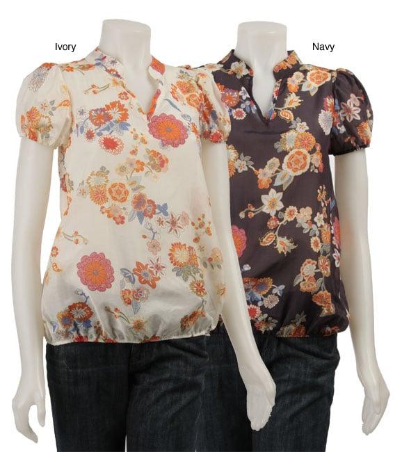 L11975633 renee c women's printed short sleeve shirt free shipping on,Renee C Womens Clothing