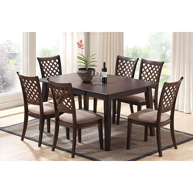 tommy 7 piece dining room set free shipping today overstock com rh overstock com tufted dining room chairs overstock dining room chairs overstock
