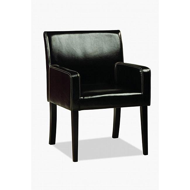 Jovita Bi-cast Leather Chair Black