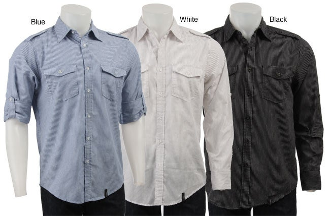 Straight Faded Men's Button-front Shirt