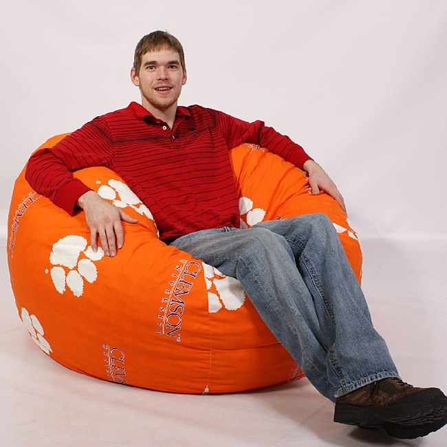 Shop Original Large Fuf 4 Foot Clemson College Bean Bag