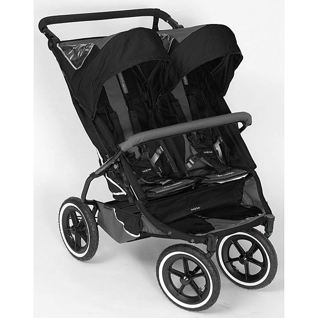 Phil and Ted's Black E3 Twin Stroller