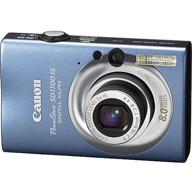 Canon SD1100 Blue 8.0MP PowerShot Elph Digital Camera (Refurbished)
