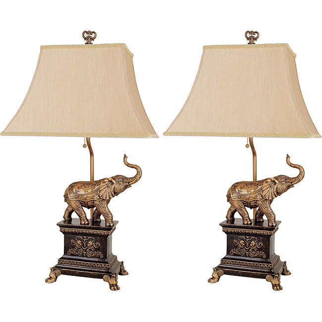 Safari Elephant Lamps (Set of 2)