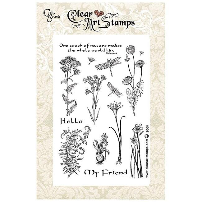 Crafty Secrets 'Medium Wildflowers' Clear Art Stamps