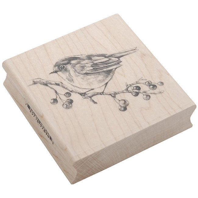 Inkadinkado Rubber/ Wood 'English Robin' Stamp
