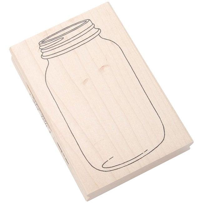Inkadinkado 'Mason Jar' Rubber Stamp