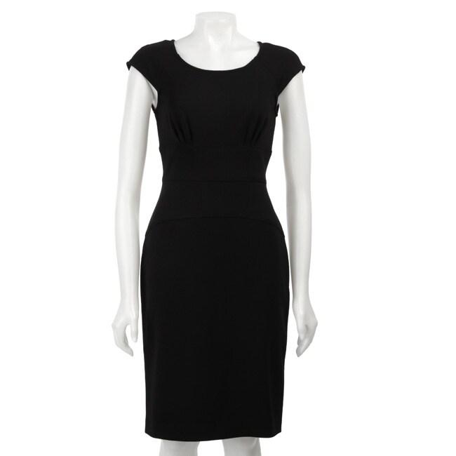 Calvin Klein Women's Cap Sleeve Ponte Sheath Dress