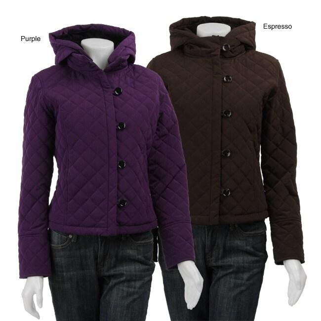 Calvin Klein Women's Hooded Quilt Jacket