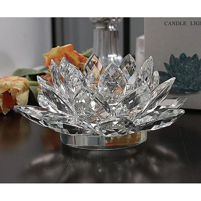 Crystal Lotus Candle Holder Free Shipping On Orders Over