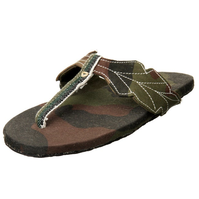 Sole Rebels Women's Camo Floral and Fauna Sandals (Ethiopia)