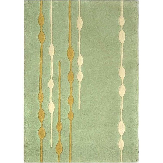 Safavieh Handmade Soho Vines Mint Green New Zealand Wool Rug (2' x 3')