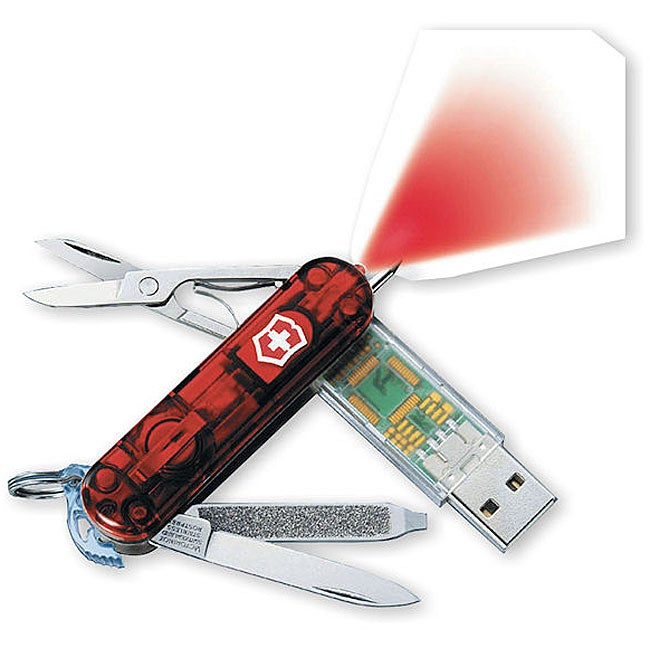 Swiss Army 256MB USB Memory Ruby 7-tool Knife