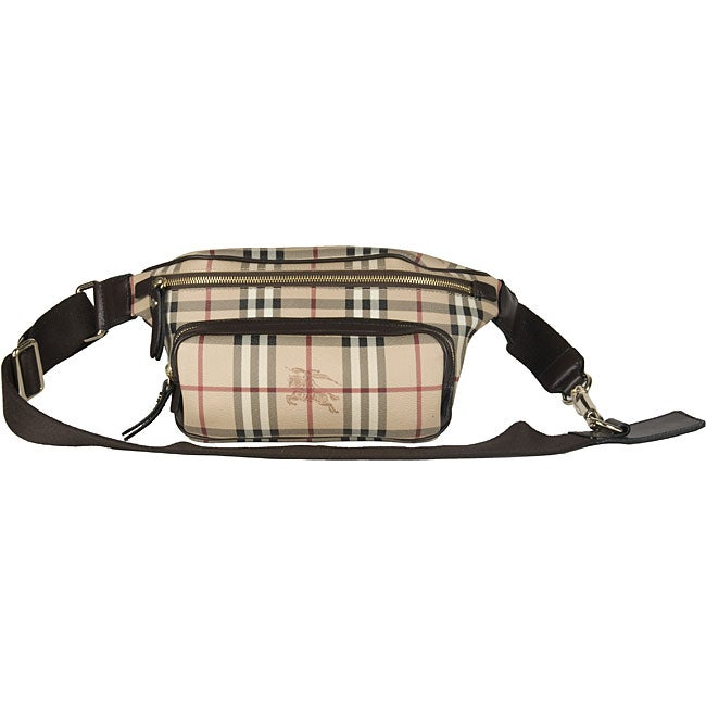 e794b4748fa9 Shop Burberry Check Fanny Pack - Free Shipping Today - Overstock ...