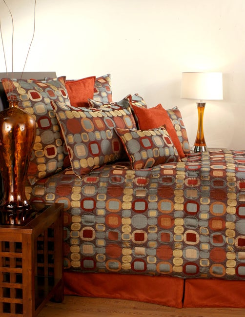 Shop Sherry Kline Metro Terracotta 7 Piece Comforter Set