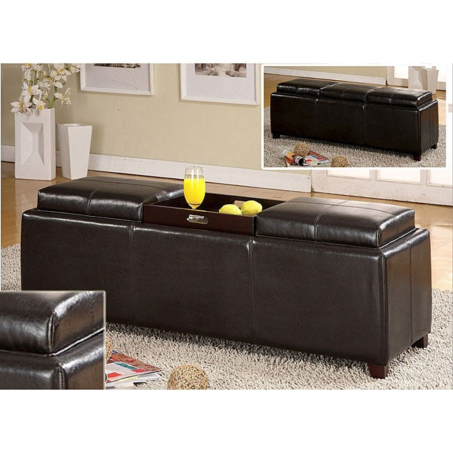 Furniture of america salford contemporary storage bench for Americas best storage