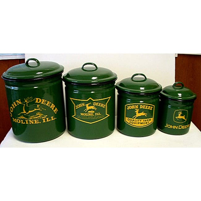 John Deere 4 Piece Canister Set Free Shipping Today