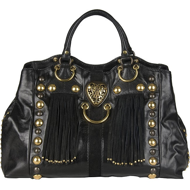 b31a1e1d848b Shop Gucci 'Babouska' Black Tote Bag - Free Shipping Today - Overstock -  3967612