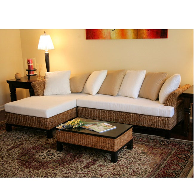 punta gorda indoor wicker sectional furniture free shipping today 12000800. Black Bedroom Furniture Sets. Home Design Ideas