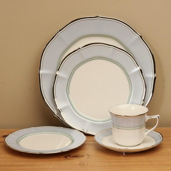 Shop Noritake Centura Blue 5 Piece Formal Dinnerware Set