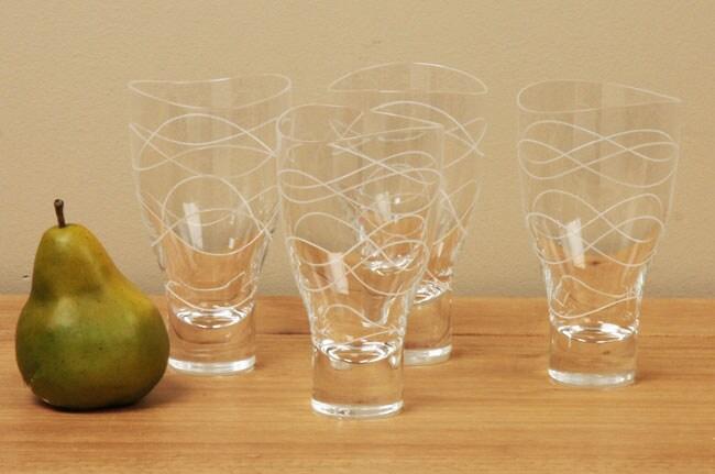 Nambe Motus 4-piece Highball Glass Set