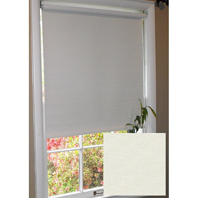 Arlo Blinds Vivid Cream Room-dimming Roller Shade (24 in. x 72 in.) - Thumbnail 0