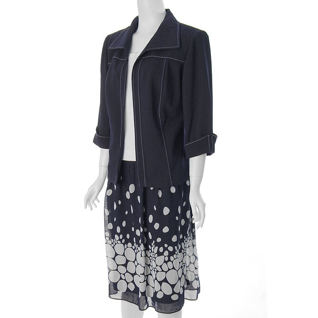 Dana Kay Women's Plus Size 3-piece Skirt Set