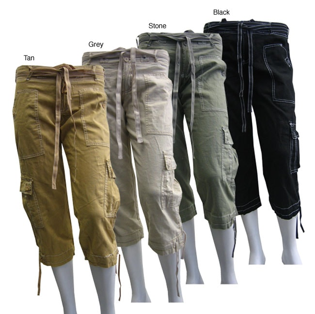 Feathers Women's Capri Cargo Pants - Free Shipping On Orders Over ...