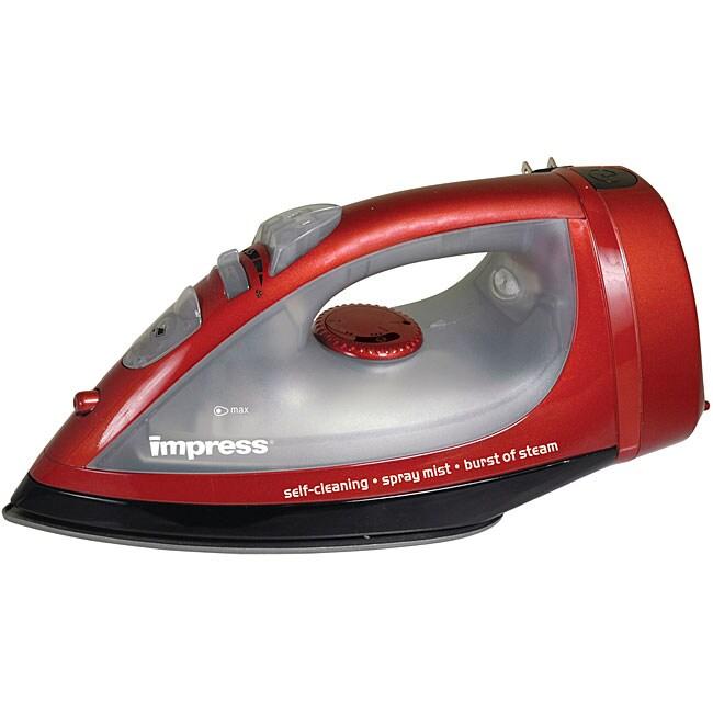 Impress Red Nonstick 1200-watt Steam/ Dry Iron