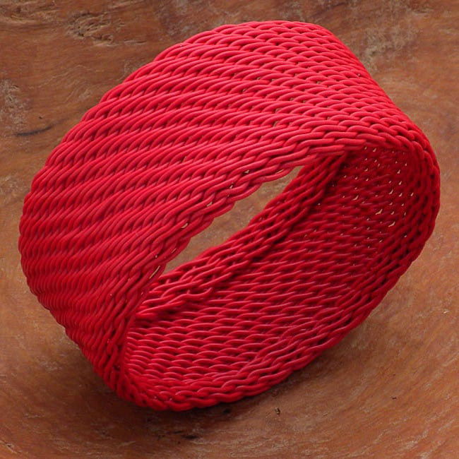 Telephone Wire Red Bracelet (South Africa)