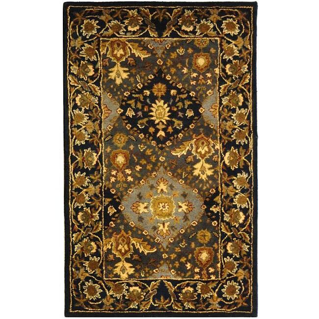 Safavieh Handmade Tabriz Blue Wool Rug (3' x 5')