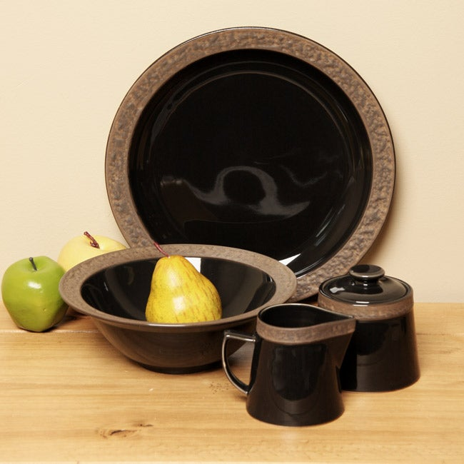 Sango Rustic Charcoal 5 Piece Completer Dinnerware Set Free Shipping On Orders Over 45 3985503