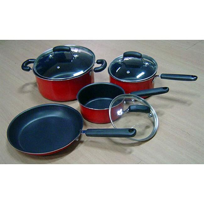 Heavy-duty 7-piece Aluminum Cookware Set