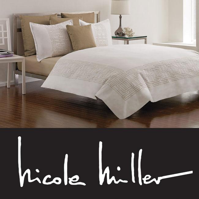 Shop Nicole Miller Platinum Argos 7 Piece Duvet Cover Set