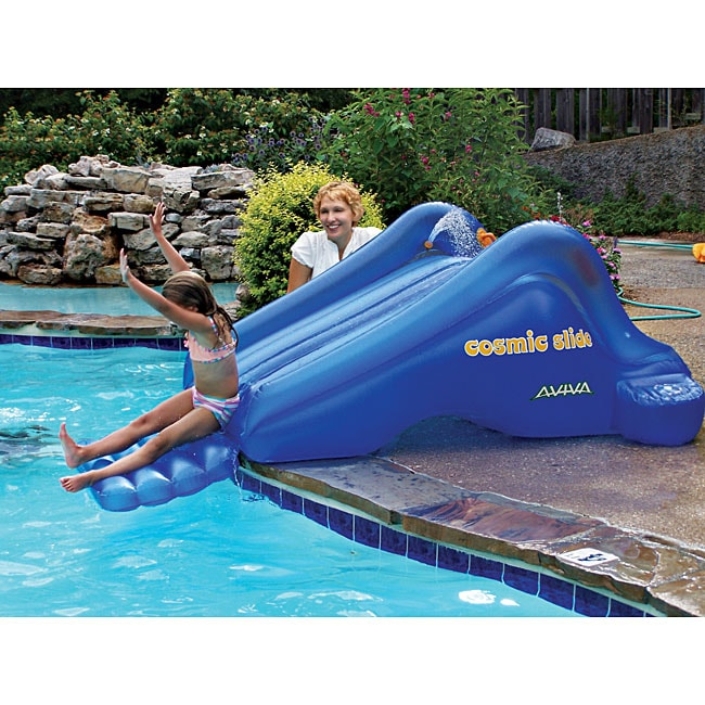 aviva by rave sports cosmic slide inflatable pool slide