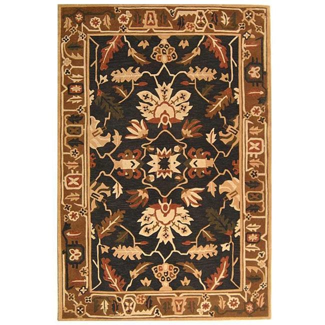 "Safavieh Handmade Rodeo Drive Graphite/ Camel New Zealand Wool Rug (7' 6"" x 9' 6"")"