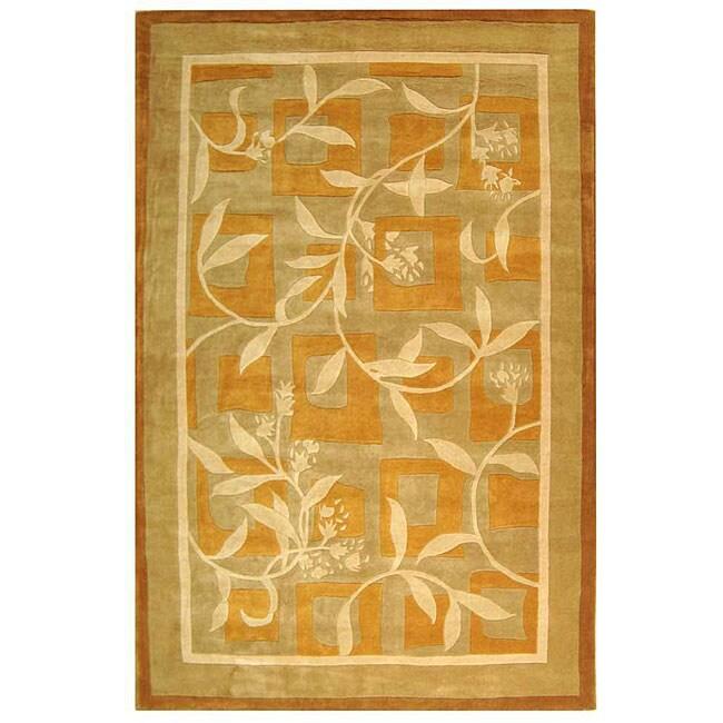Safavieh Handmade Rodeo Drive Transitional Gold/ Ivory Wool Rug (9'6 x 13'6)