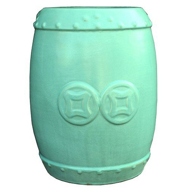 Double Coin Jade Green Ceramic Stool Free Shipping Today