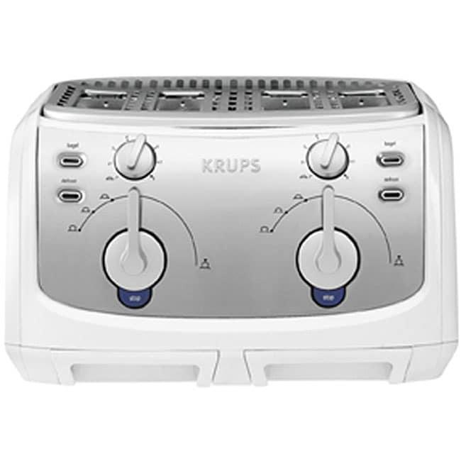 Krups Fem4w White 4 Slice Toaster Free Shipping Today