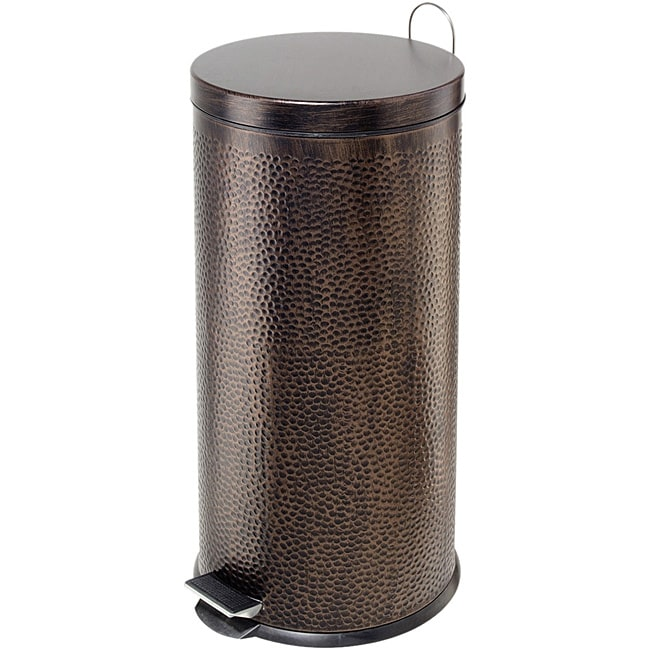 Bronze Finished 30 Liter Step Trash Can Free Shipping