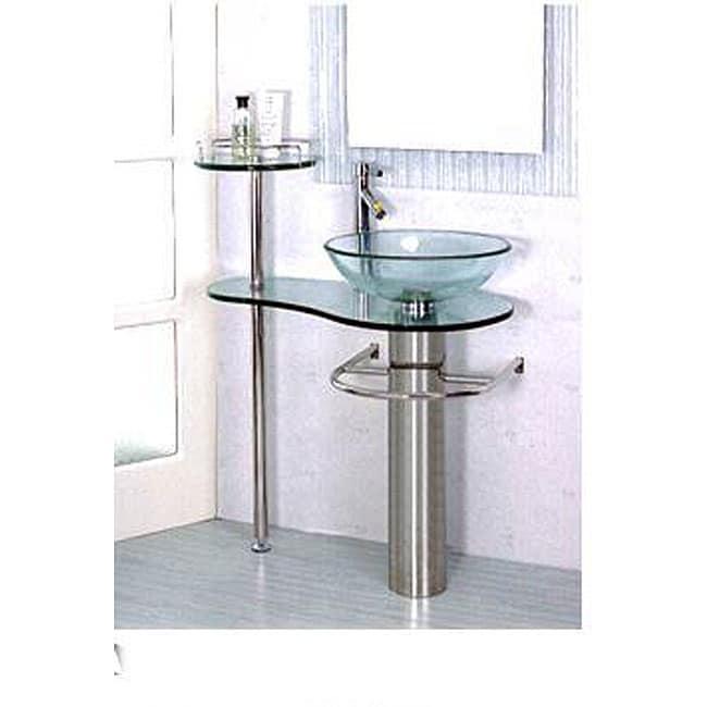 Bathroom Vanities Glass Pedestal