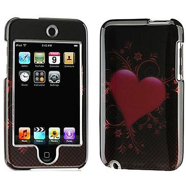 Apple iPod Touch 2G Carbon Fiber Heart Hard Case