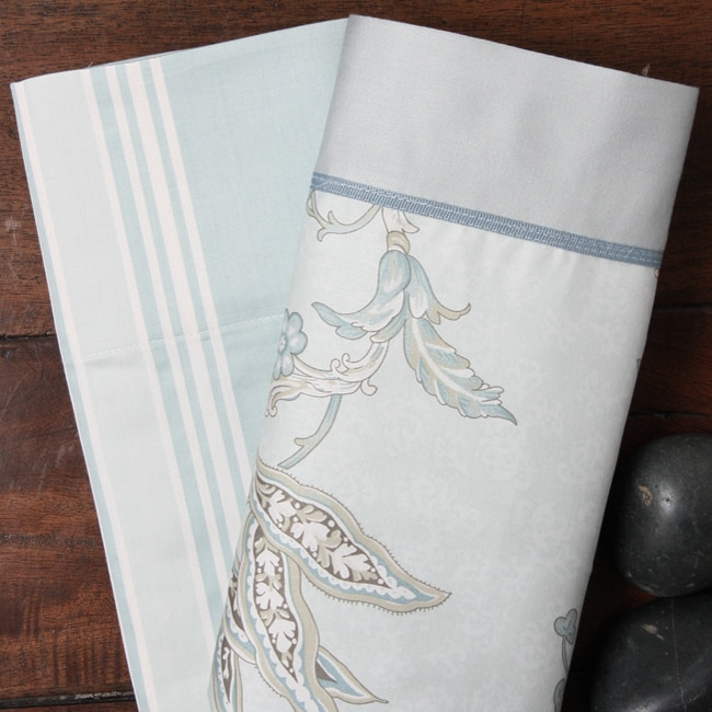 Jacobean Print 300 Thread Count 7-piece Duvet Cover Set