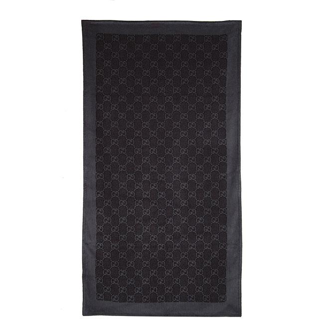 Gucci Logo Oversized Grey Beach Towel Free Shipping