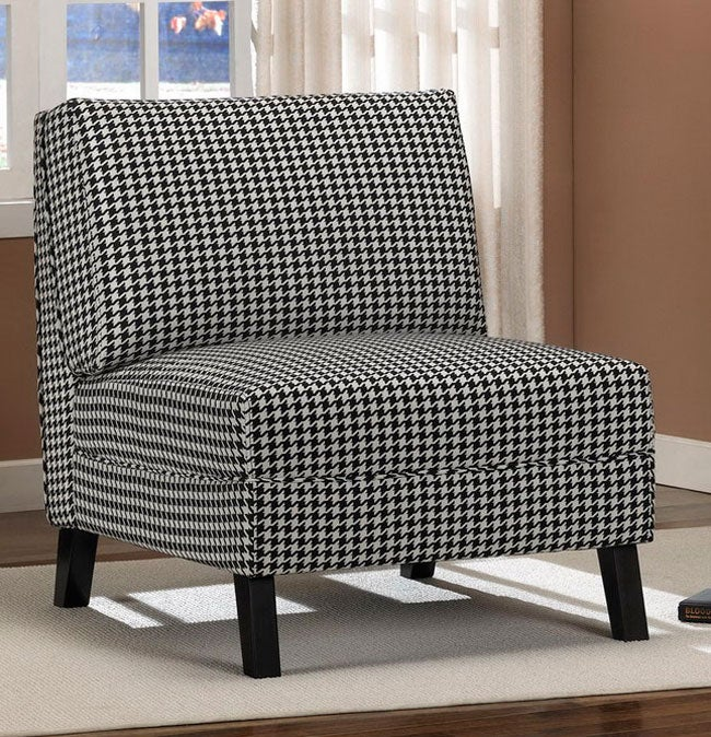 Aspen Houndstooth Slipper Chair Free Shipping Today