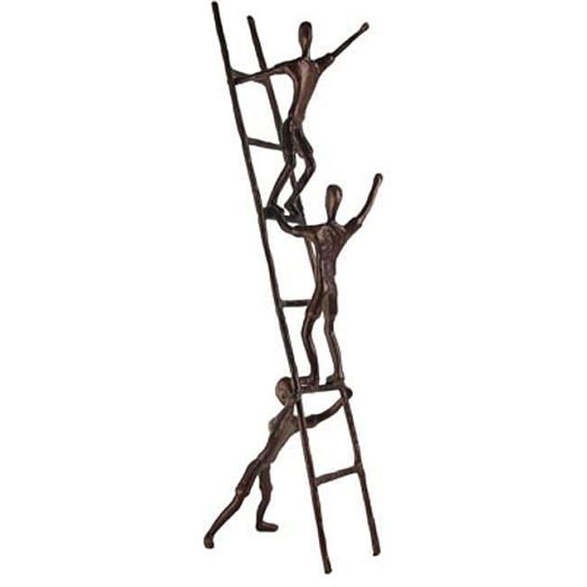 Aluminum Children Climbing On Ladder Sculpture Free