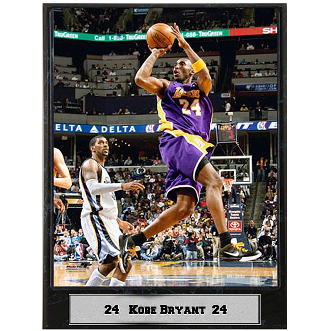 Kobe Bryant L.A. Lakers 9x12-inch Photo Plaque