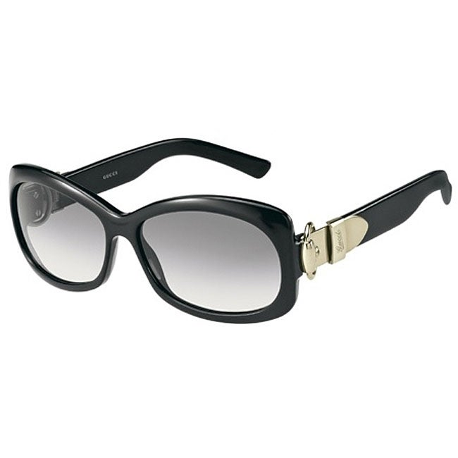 Buckle Sunglasses  gucci women s 2983 s black buckle sunglasses free shipping today