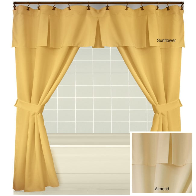 Boxcar Double Swag Shower Curtain - Boxcar Double Swag Shower Curtain - Free Shipping On Orders Over